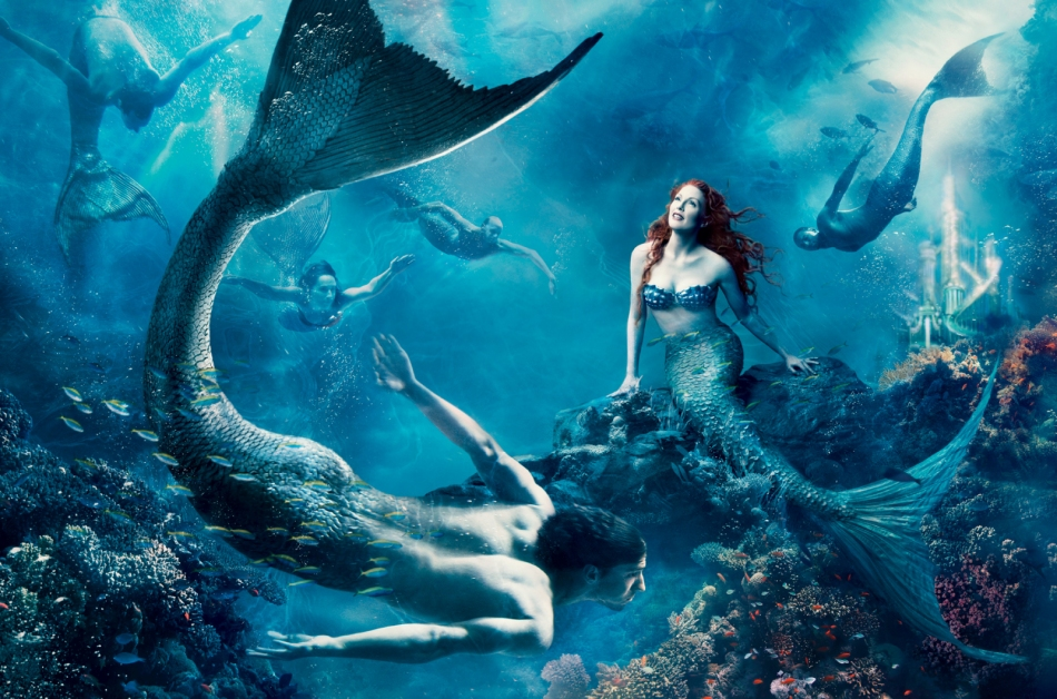 La Sirenita, de Annie Leibovitz con Julien Moore.